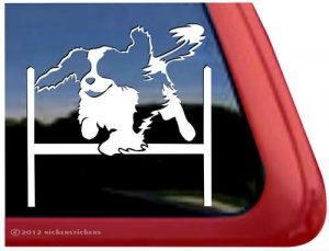 Agility Dog Cavalier Agility Vinyl Window Decal Sticker