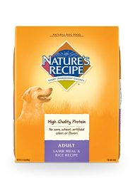 Nature'S Recipe Adult Dog Food Dry, Lamb Meal & Rice Recipe, 15-Pound