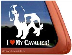 I Love My Cavalier Vinyl Window Decal Sticker