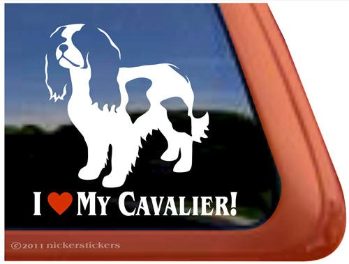 I Love My Cavalier Vinyl Window Decal Sticker