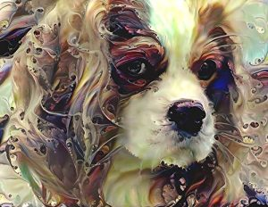 Cavalier King Charles Spaniel Art – Dog Portrait Wall Decor Print 8.5 x 11