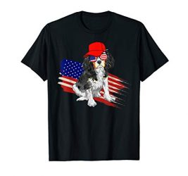Cavalier King Charles Spaniel American 4th Of July Tshirt