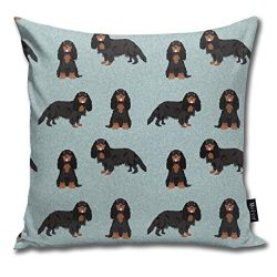 Black And Tan Cavalier, Cavalier King Charles Spaniel, Dog, Dog Breeds, Cavalier Spaniel – Pet Quilt B Coordinate Comfortable Soft Bed Pillow Case Household Pillow Case Office Bolster 18×18 Inches