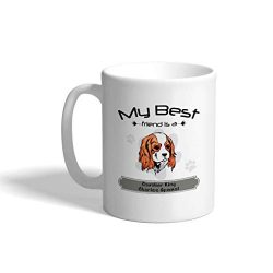Custom Funny Coffee Mug Coffee Cup Friend Cavalier King Charles Spaniel Dog White Ceramic Tea Cup 11 OZ Design Only