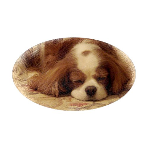 CafePress Cavalier King Charles Spaniel Sticker (Oval) Oval Bumper Sticker, Euro Oval Car Decal