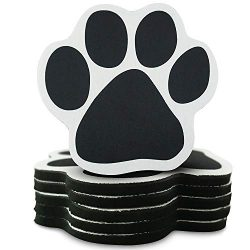 Pawtastic Padz Paw Shaped Absorbent Drink Coasters for Dog Lovers (Set of 6) – Soft, Non-Skid, Scratch Resistant Bottom – Indoor/Outdoor Use – Cute Dog Home Decor Table Gift Set