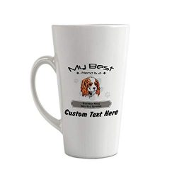Ceramic Custom Latte Coffee Mug Cup Friend Cavalier King Charles Spaniel Dog Tea Cup 17 Oz Personalized Text Here