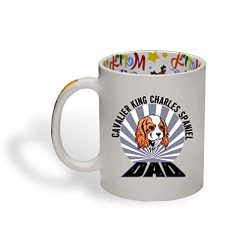 Ceramic Christmas Coffee Mug Dad Cavalier King Charles Spaniel Dog Funny Tea Cup