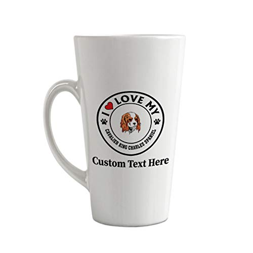 Ceramic Custom Latte Coffee Mug Cup Love Cavalier King Charles Spaniel Dog A Tea Cup 17 Oz Personalized Text Here
