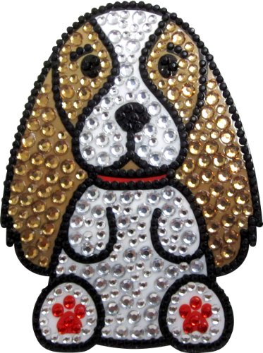 FouFou Dog Love Your Breed Rhinestone Sticker, King Charles Spaniel