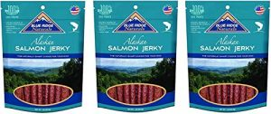 (3 Pack) Blue Ridge Naturals Oven Baked Salmon Jerky Dog Treats, 3 Pounds Total