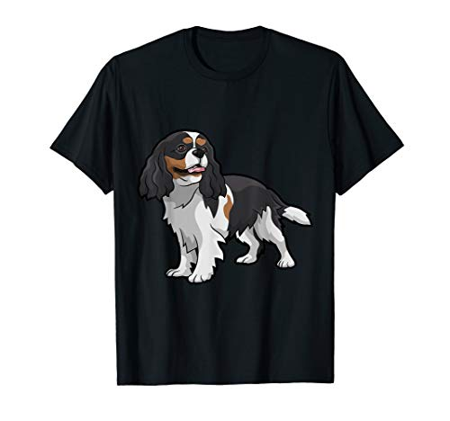 Cute Tri-Color Cavalier King Charles Spaniel T-Shirt