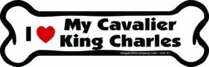 Imagine This Bone Car Magnet, I Love My Cavalier King Charles, 2-Inch by 7-Inch